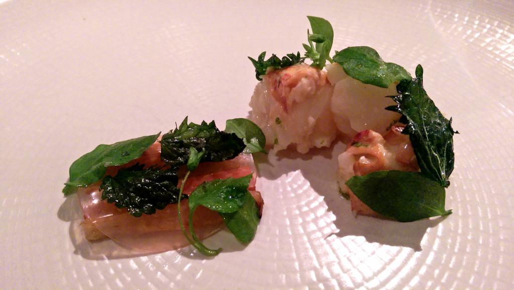 Aubergine-lobster