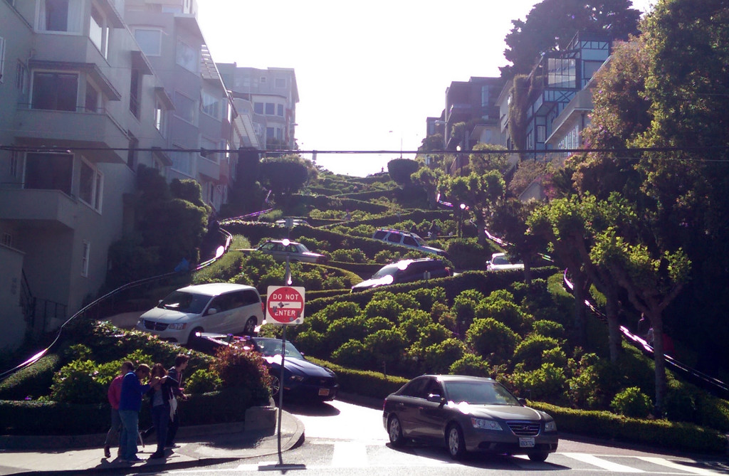 Sightseeing in San Francisco - Lombard Street