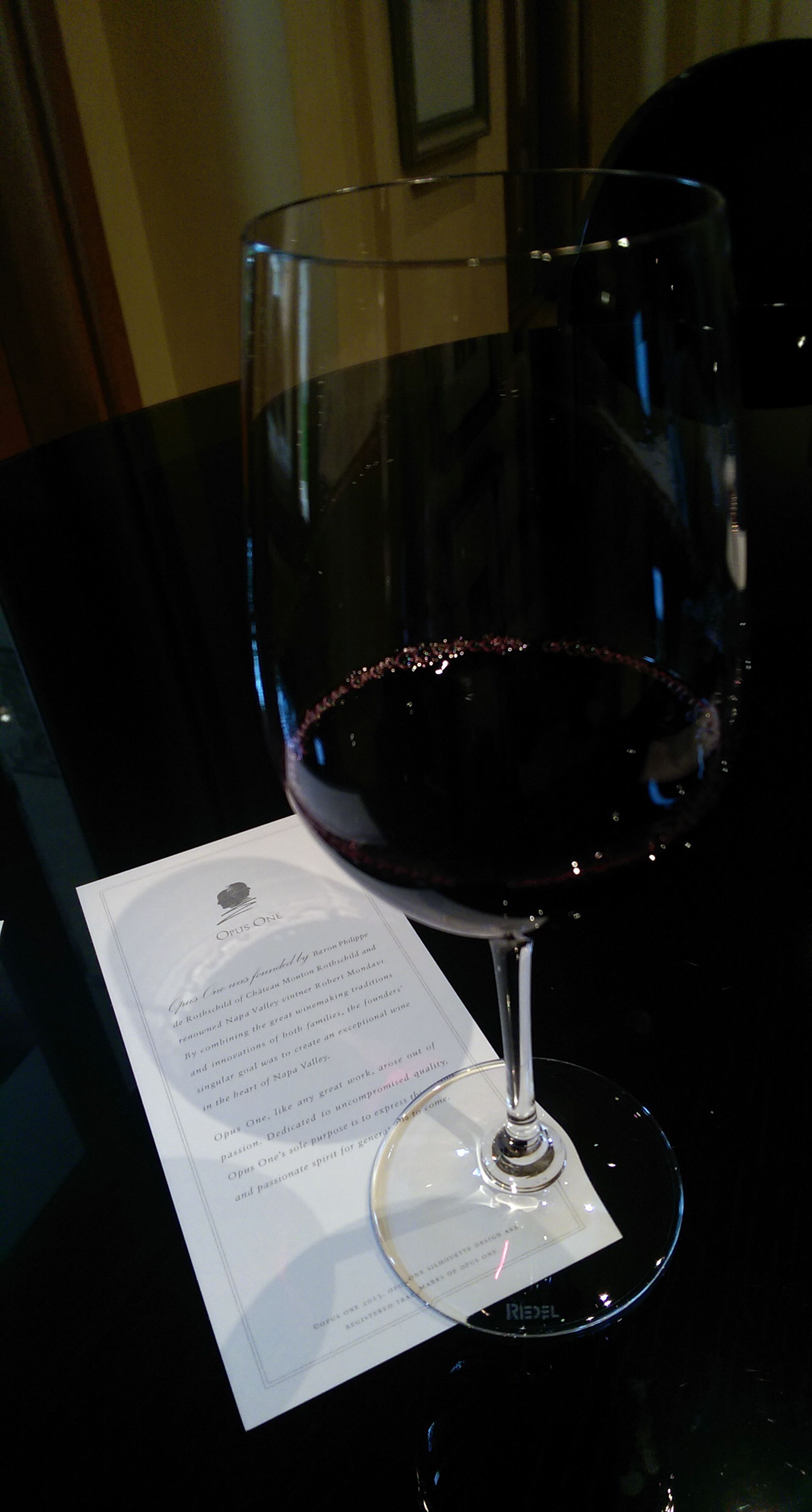 Wine tasting in Napa - Opus One