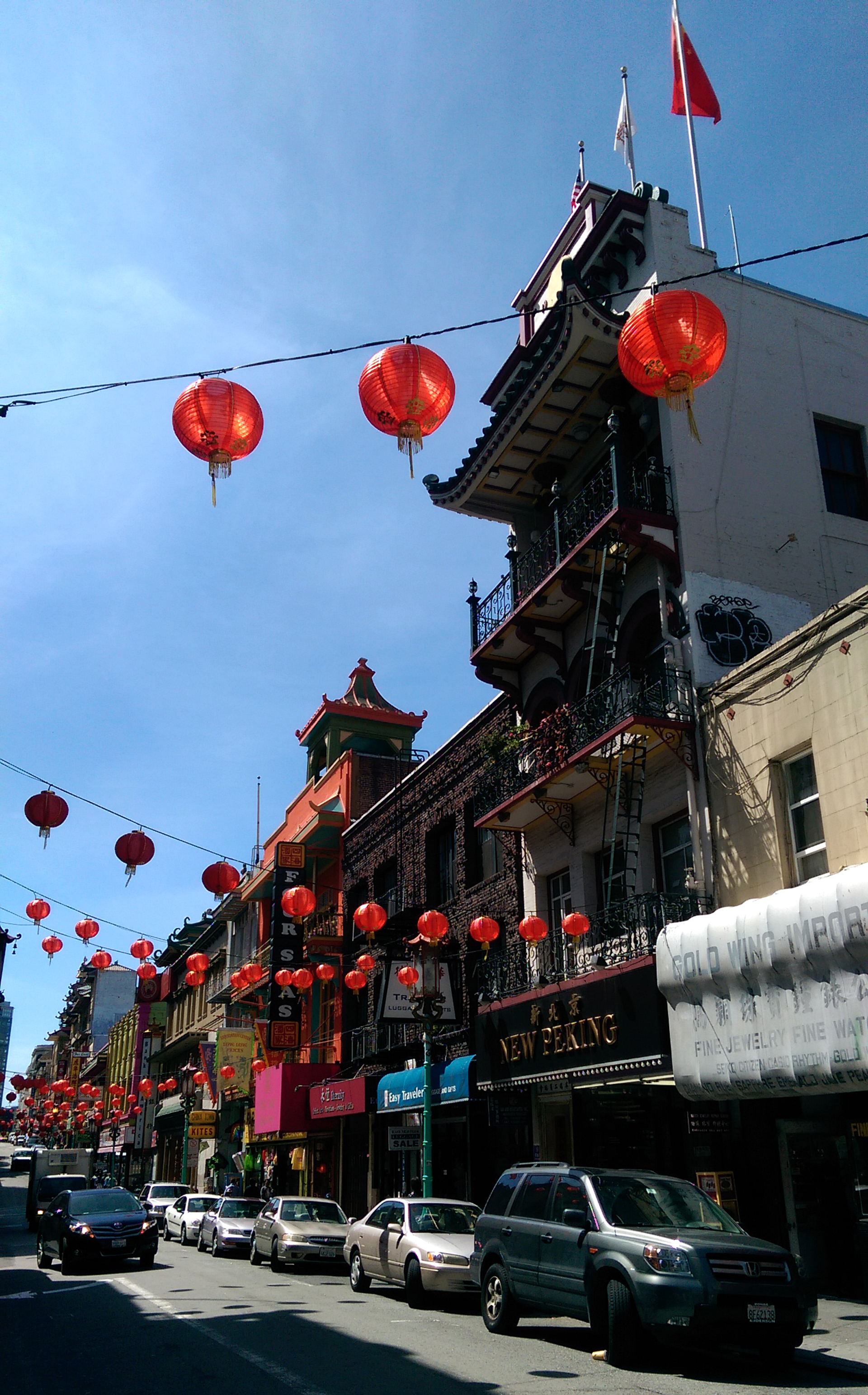 Sightseeing in San Francisco - Chinatown lanterns