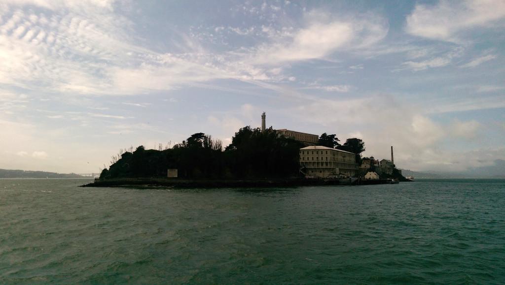 Sightseeing in San Francisco - view of Alcatraz Island