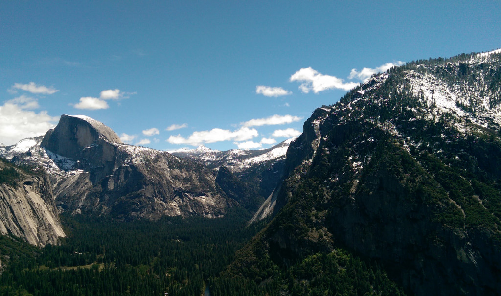Hiking in Yosemite - view-of-Half-Dome-and-Yosemite-Valley-(2)
