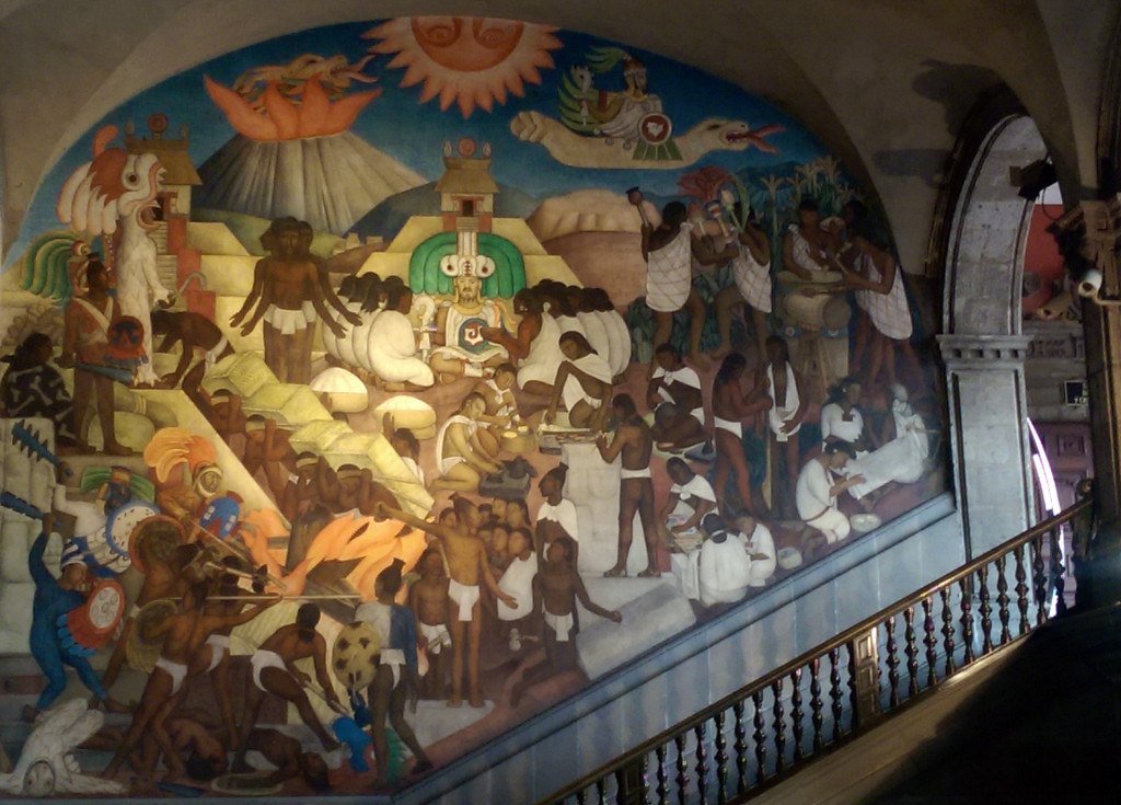 Diego-Rivera-staircase-mural
