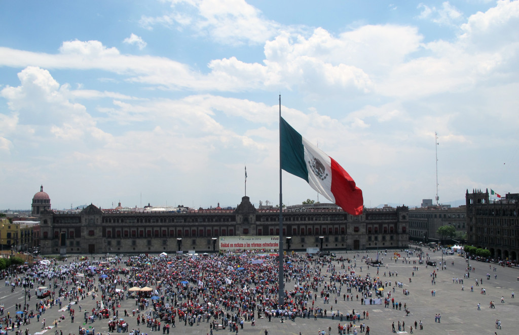 Mexico-City---protest-in-Zocalo