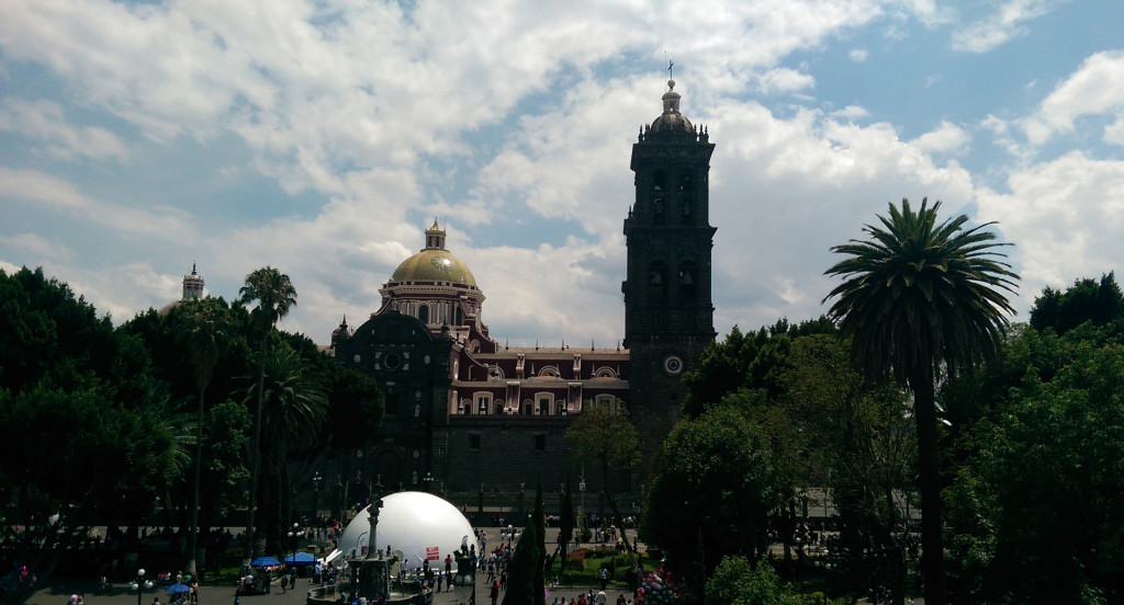 Puebla---view-of-cathedral