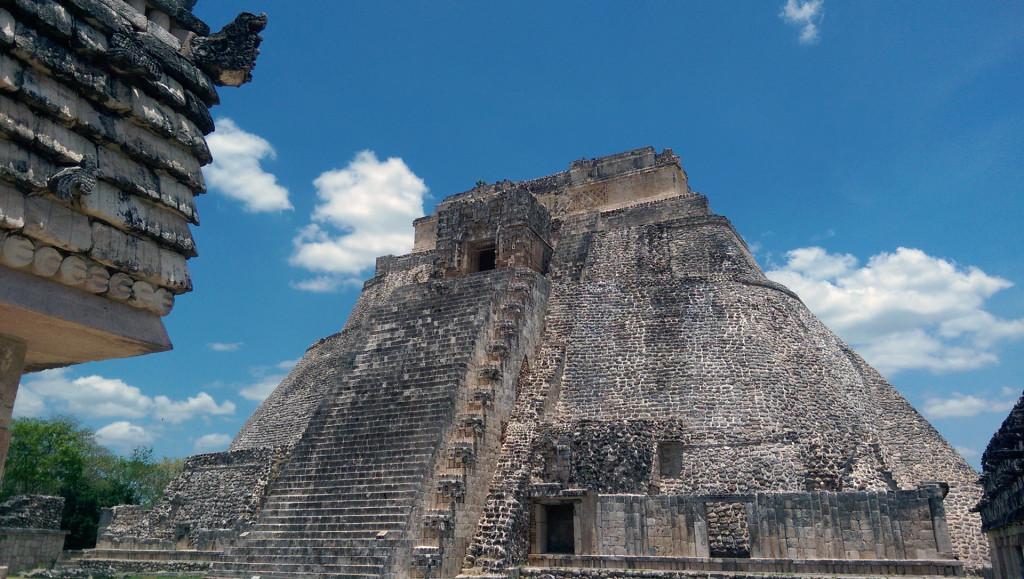 Uxmal---view-of-pyramid