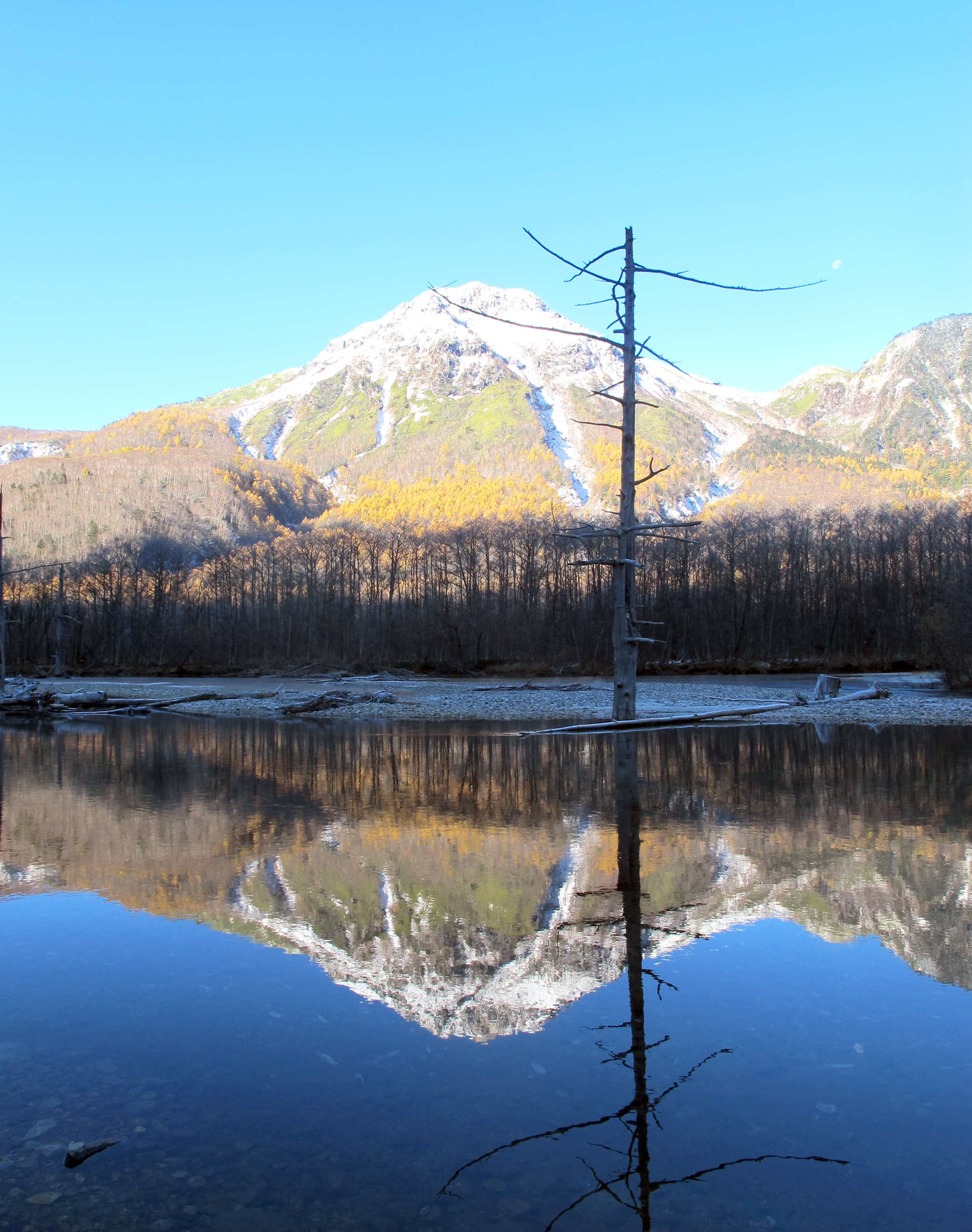 Kamikochi-reflection(vertical)