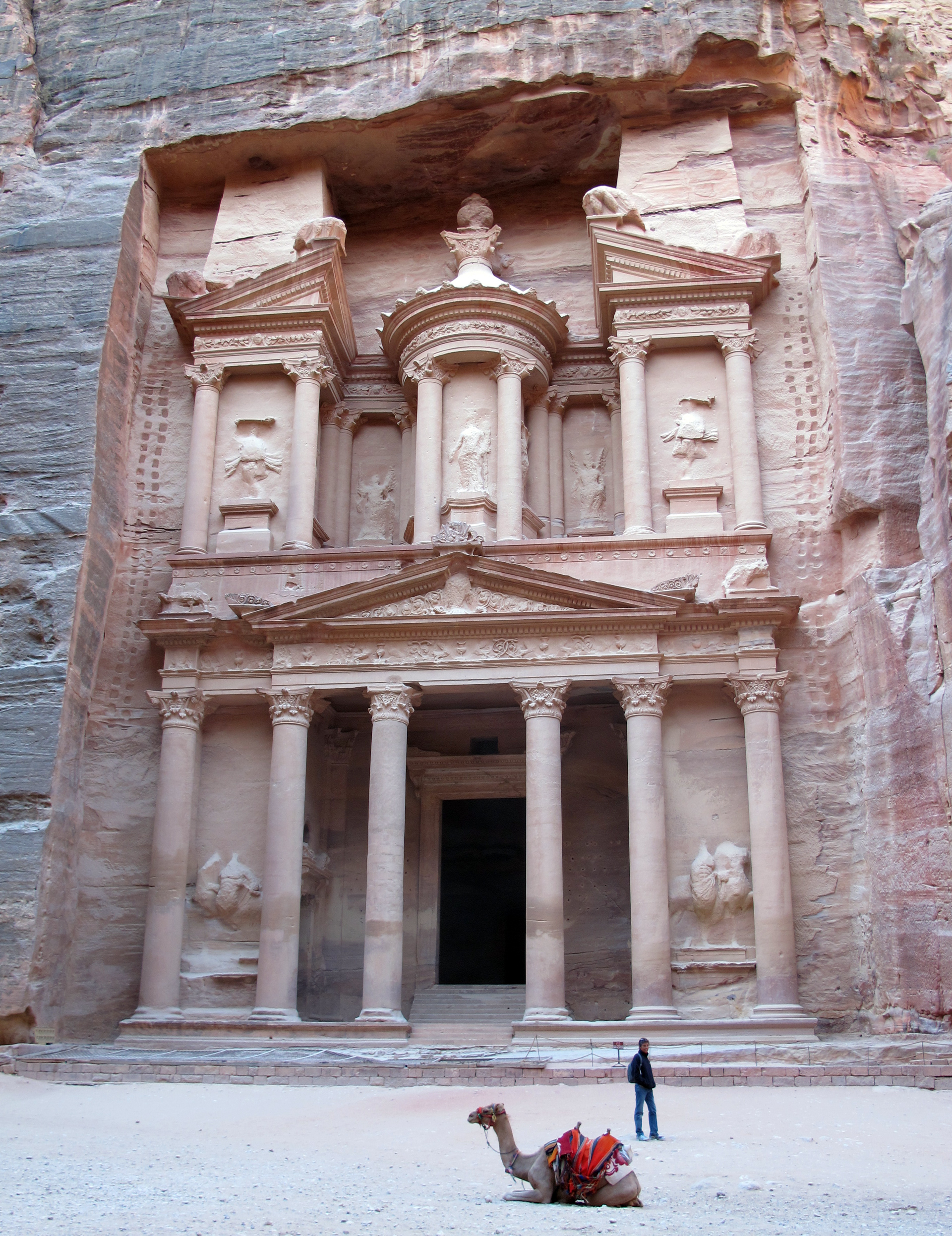 Petra-the-Treasury-and-camel