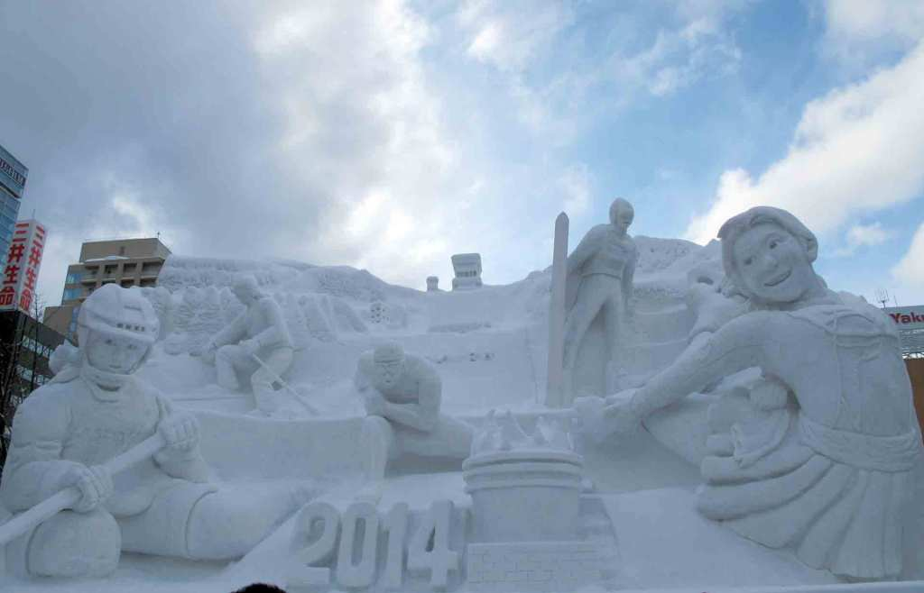 Japan-winter---Sapporo-ice-festival