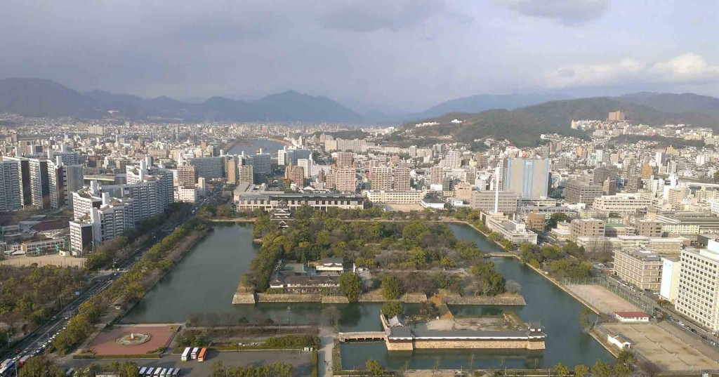 Hiroshima-view-of-castle-from-Rhiga-Royal-Hotel