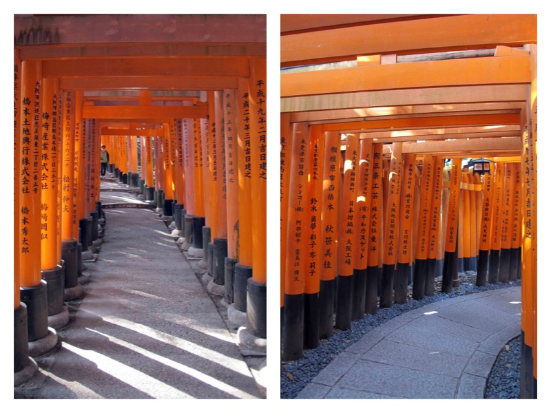 Kyoto-Fushima Inari collage